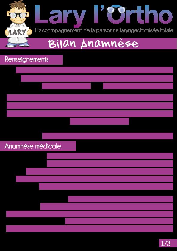 Bilan-Anamnese